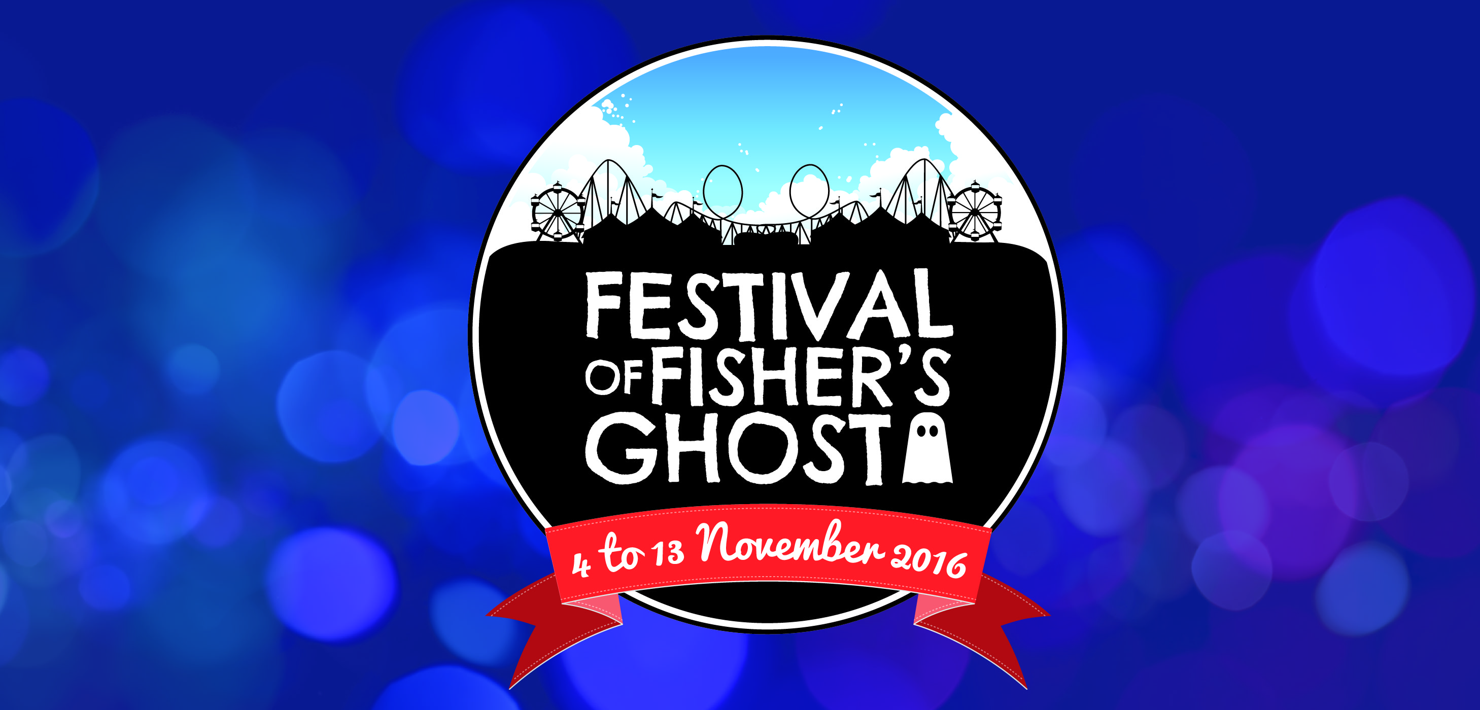 Fisher's Ghost 2016 logo with background