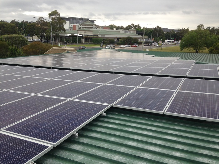 Solar Panels at HJ Daley Library