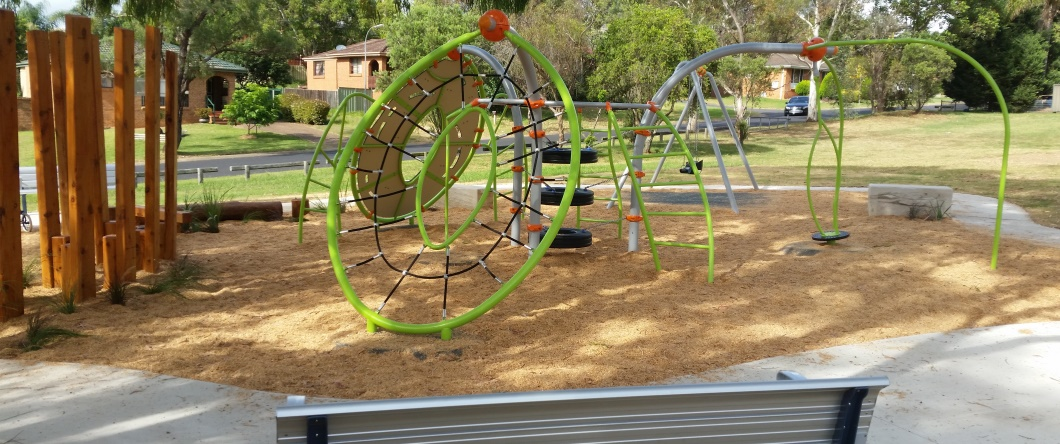 Playground equipment at Gargery Reserve