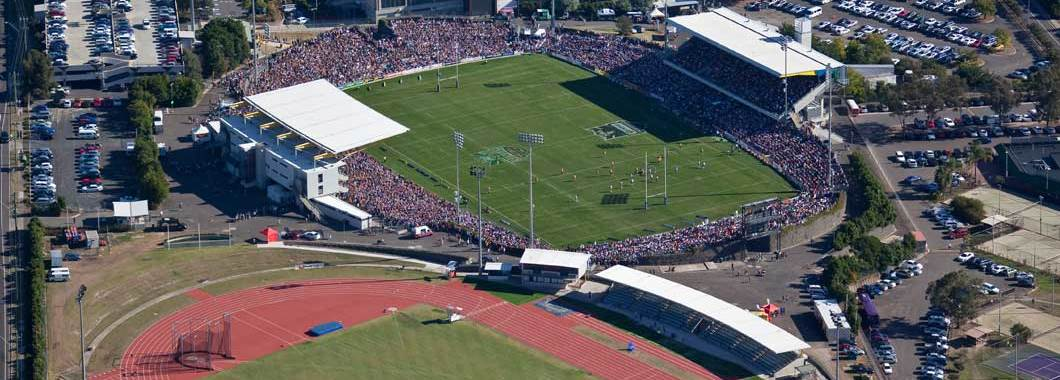 Aerial view of Campbelltown Sports Stadium