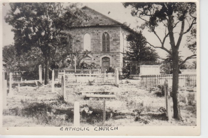 Black and white photo of St John's Church in 1840