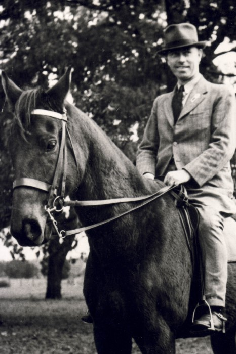 Photo of Keith Brown riding a horse