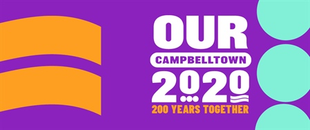 Our Campbelltown 2020 logo featuring 200 Years Together