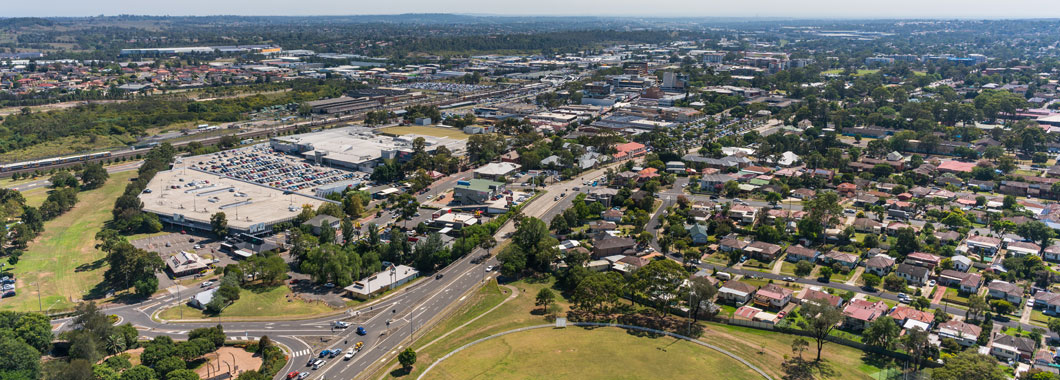 Aerial view of Campbelltown