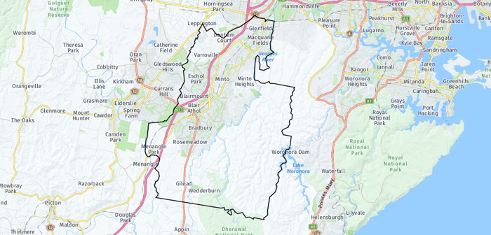 Map of Campbelltown LGA