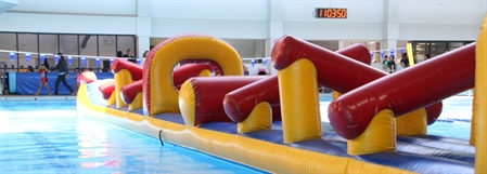 Inflatable hired for a kids birthday party