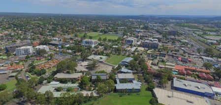 Aerial view of Campbelltown NSW