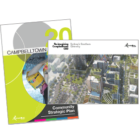 Reimagining Campbelltown Vision Document Covers