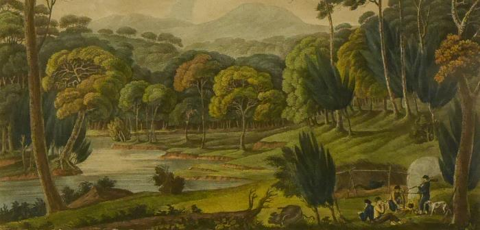 Joseph Lycett, View upon the Nepean River at the Cowpastures, New South Wales, 1824-1825