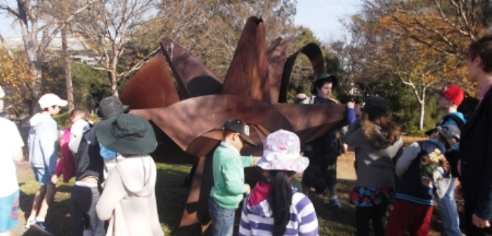 School Holiday Care Excursion to Sculpture Garden