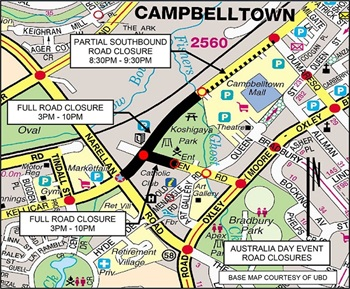 Australia Day road closures - Campbelltown City Council 0e79df6d8994f