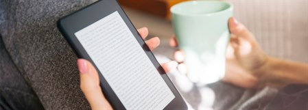 Accessing library services digitally reading a kindle