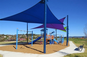 Abington Reserve playground with shade cloths