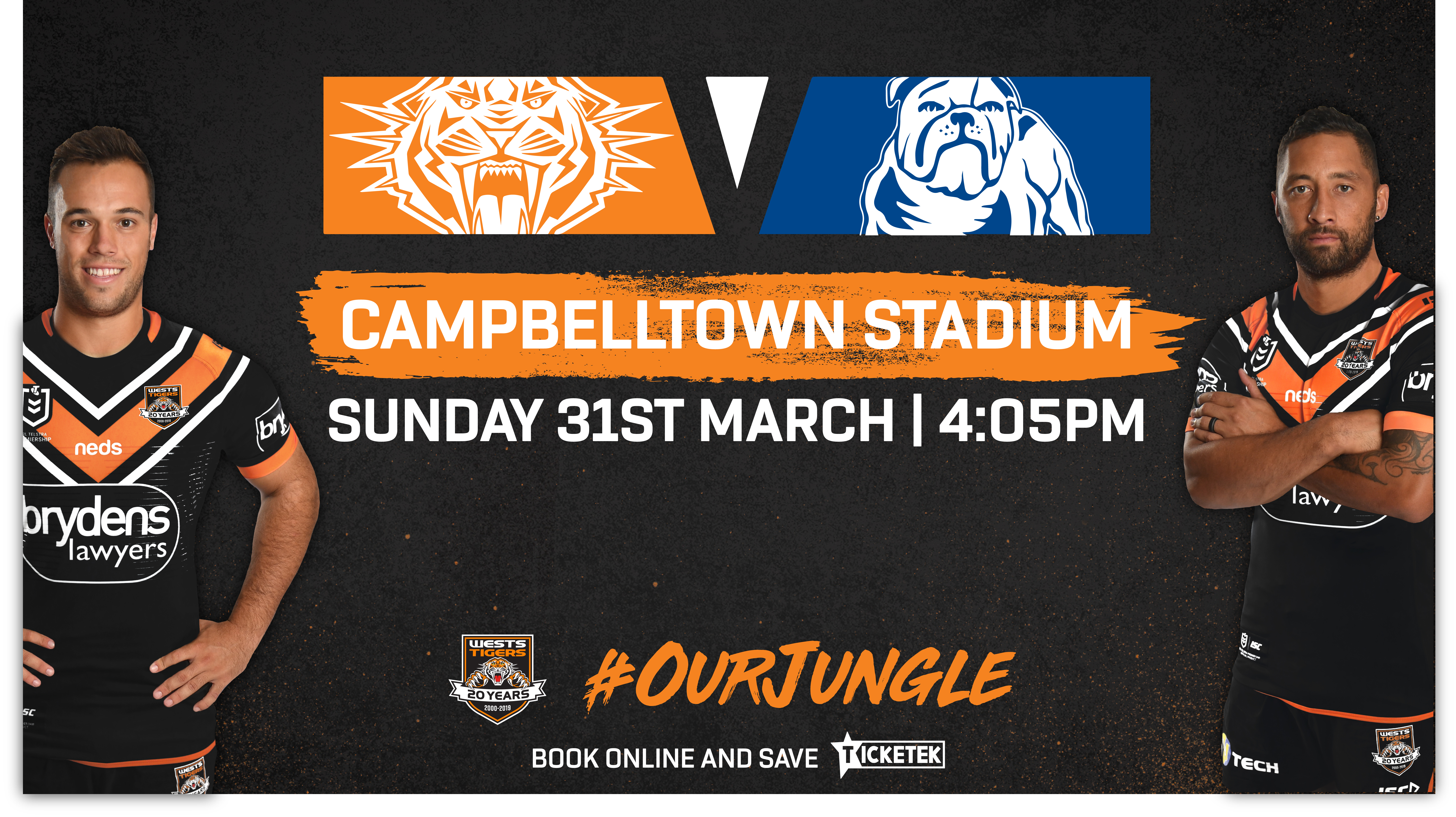 Nrl Round 3 Wests Tigers V Bulldogs Campbelltown City Council