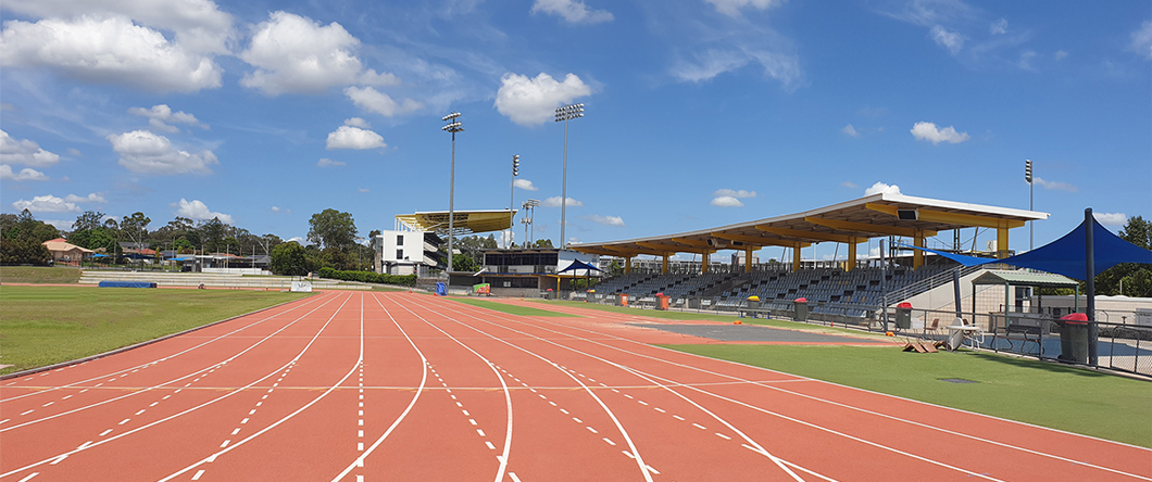 Campbelltown Athletics Centre front straight