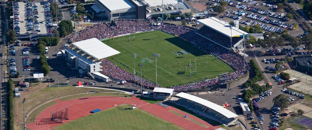 Stadium and Athletics Centre Aerial shot