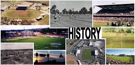 Collage of photos of Stadium history